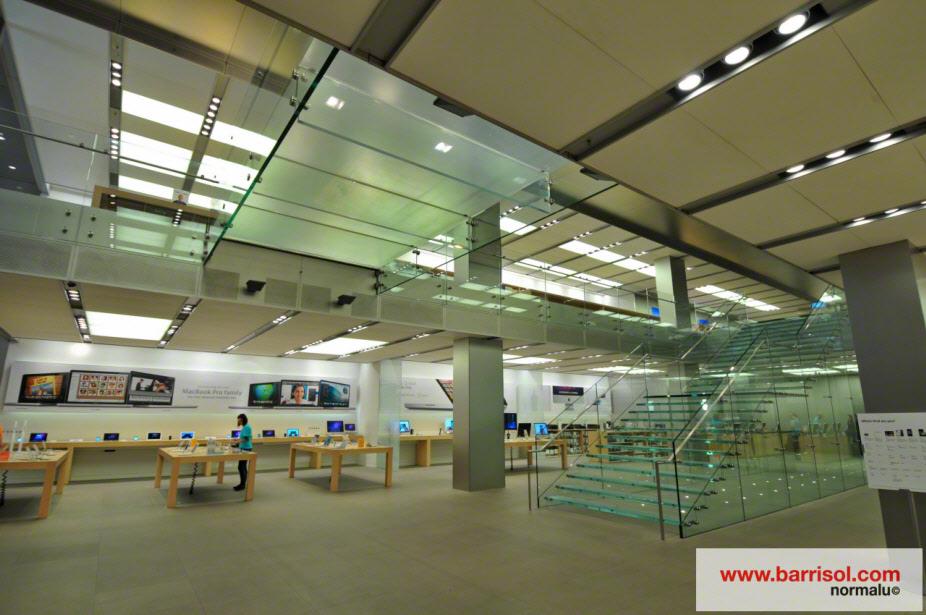 Fotos Uitzonderlijke Projecten Winkel Apple Store In Londen Angleterre Barrisol