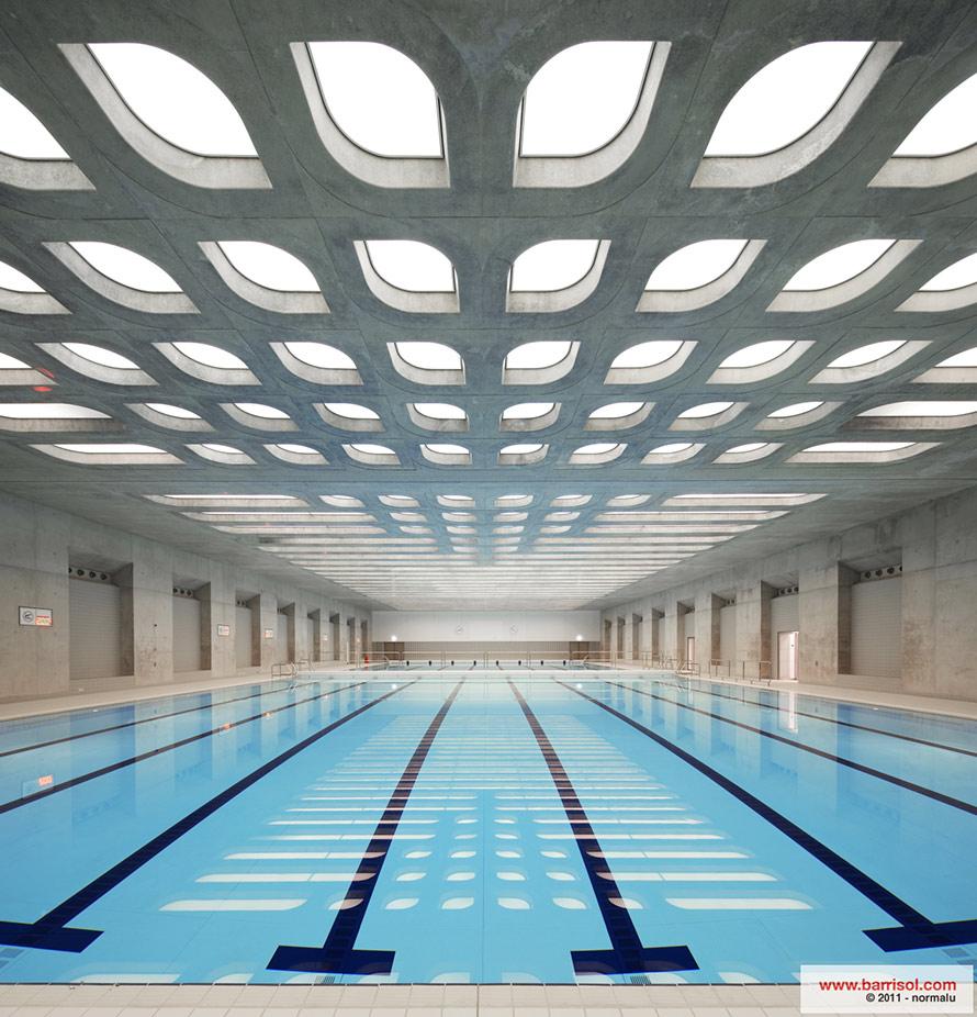 Foto progetti di eccezione aquatics centre angleterre for Piscine zaha hadid
